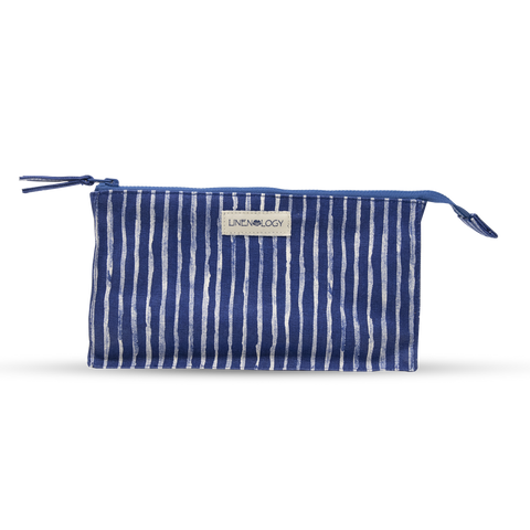 Makeup Bag Big - India Ink - Indigo
