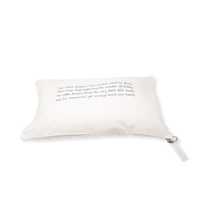 Handprinted Junior Cushion (Kid's pillow) – Baby Poem - Grey