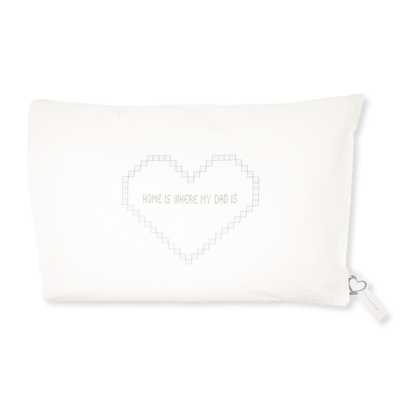 Handprinted Junior Cushion (Kid's pillow) – Home is where my dad is