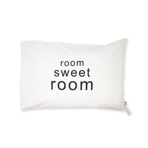 Handprinted Junior Cushion (Kid's pillow) – Room Sweet Room - Black