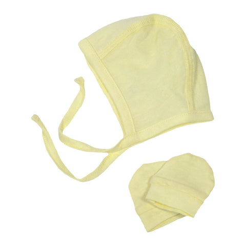 Newborn Hat and Gloves Set - Yellow