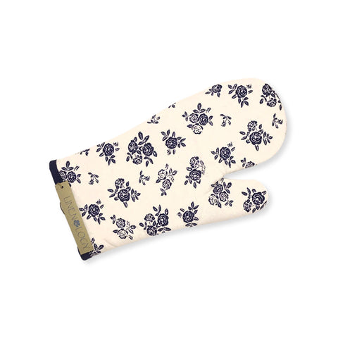Oven Mitt & Pot Holder Set - English Rose - Cream