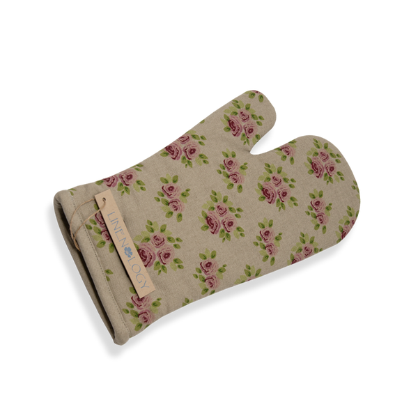 Oven Mitt & Pot Holder Set - Vintage Rose