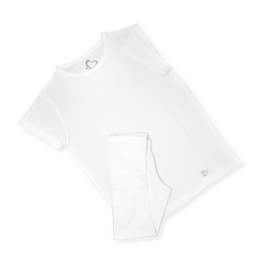Organic Oversized Jersey Set - White