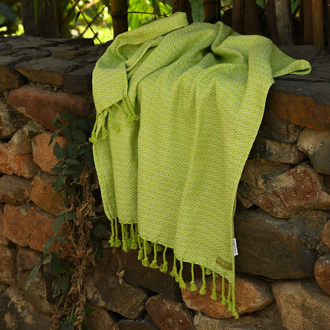 Partridge Eye Towel - Lime Love