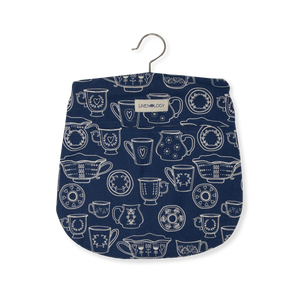 Peg Bag - Cup & Saucer - Navy