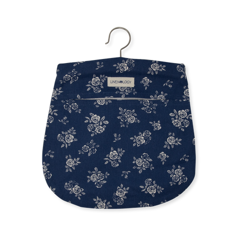 Peg Bag - English Rose - Navy