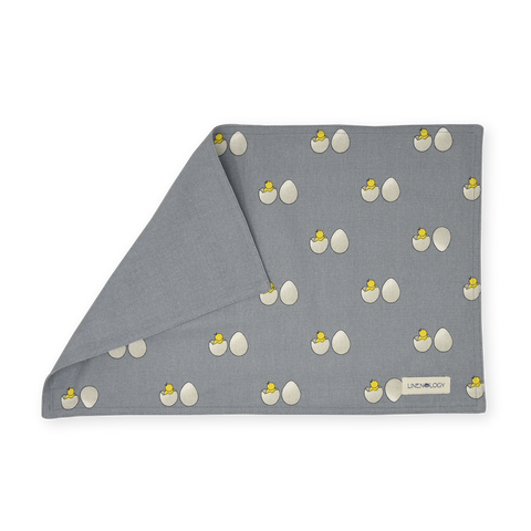 Double sided Place mats - Chick & Egg - Blue Fog