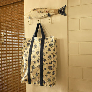 Shopping Bag with Webbing Handle - English Rose - Cream