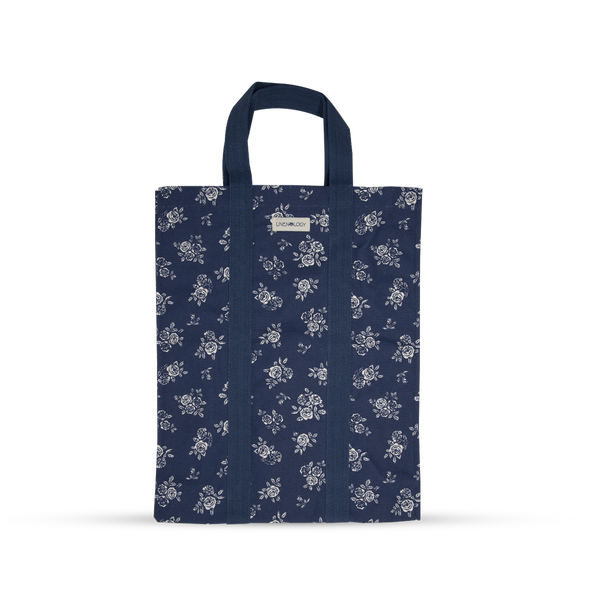Shopping Bag with Webbing Handle - English Rose - Navy
