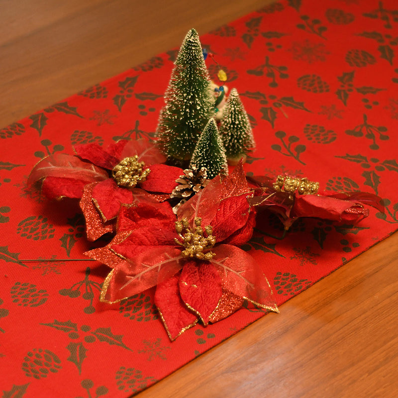 Reversible table runner fused - Happy Holly