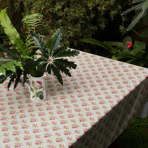 Acrylic Coated Table Cloth - Vintage Rose