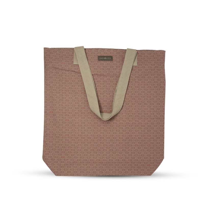 Canvas Tote - Geo Pink