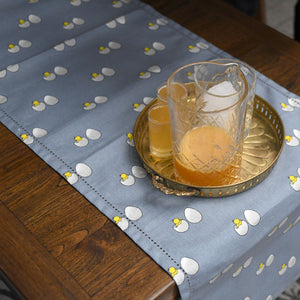 Acrylic Coated Table Runner - Chick & Egg - Blue Fog