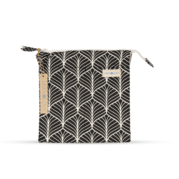 Wash Bag Tall - Abstract - Black