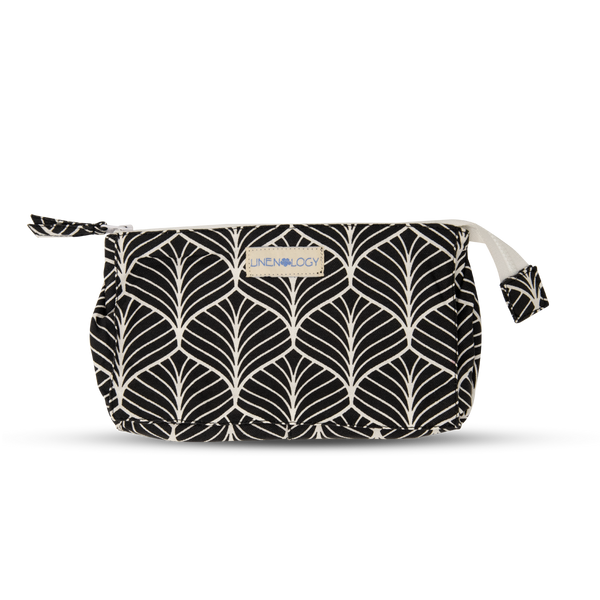 Makeup Bag Big - Abstract - Black