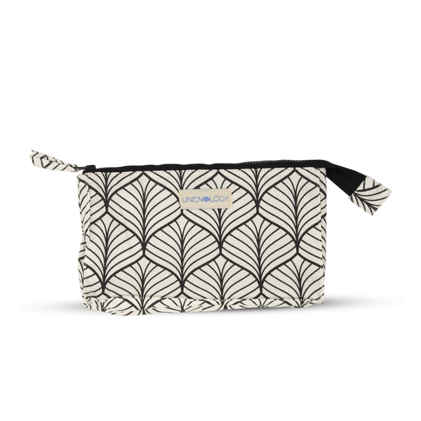 Makeup Bag Big - Abstract - White