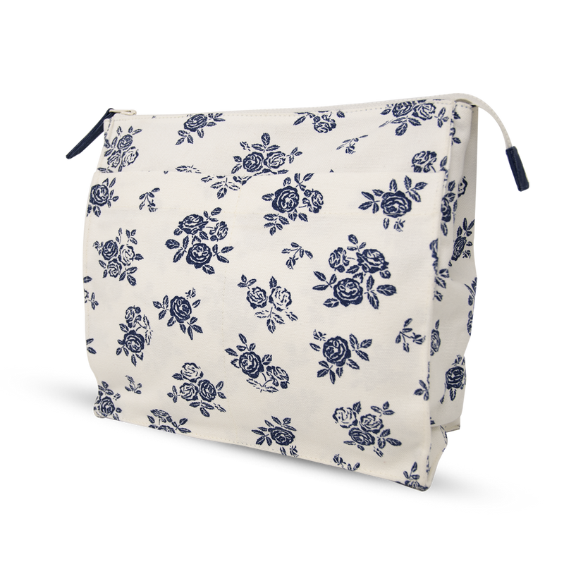 Wash Bag Tall - English Rose - Cream