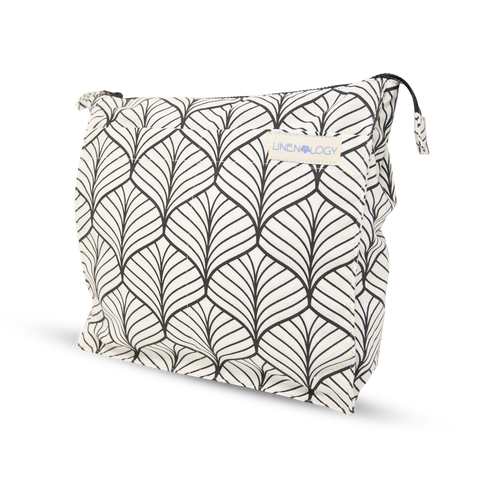 Wash Bag Tall - Abstract - White