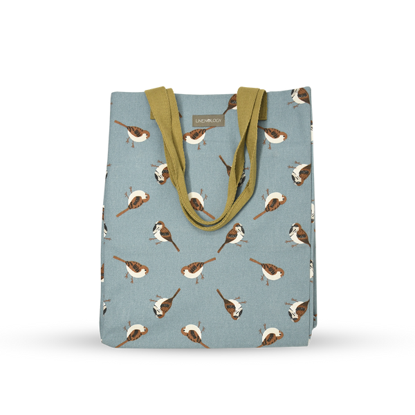 Canvas Tote - Sparrows - Cameo Blue