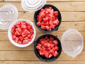 REUSABLE WAVEBOX CONTAINER 2550ML FOR DICE CUT WATERMELON SUMMER TIME