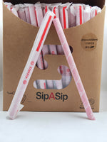 RED HEART XL JUMBO PAPER STRAW W/SLANT POINTER 12X255MM 3-LAYER 355GSM INDIVIDUAL PAPER WRAP