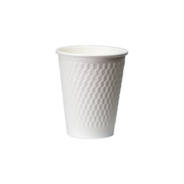 08OZ DOUBLE WALL CUBE EMBOSS PAPER HOT CUP
