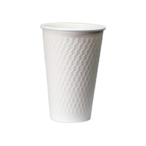 16OZ DOUBLE WALL CUBE EMBOSS PAPER HOT CUP
