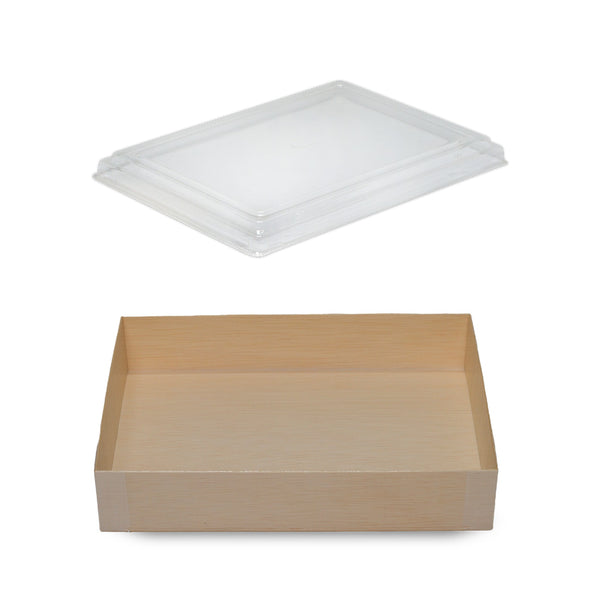 1015ML FOLDABLE RECTANGULAR WOODEN BOX WITH CLEAR LID