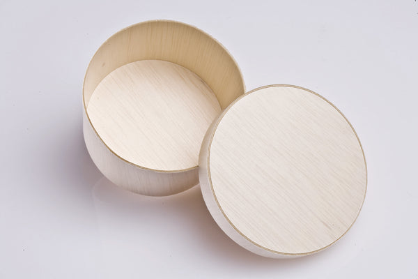 255ML ROUND WOODEN POT WITH WOODEN LID | FLR-07BK