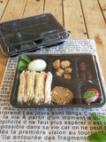 5-COMPARTMENT BENTO TAKEAWAY CONTAINER BLACK W/-CLEAR LID