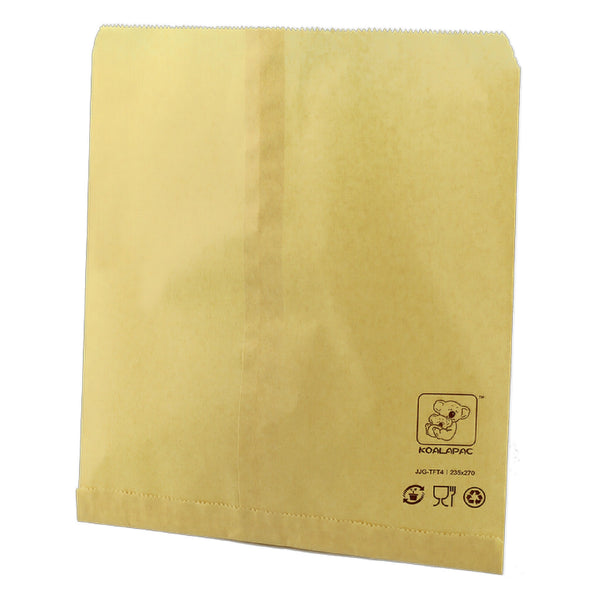 235X270MM 4SQUARE TEA BROWN PAPER BAG FLAT