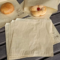 200X210MM 2SQUARE TEA BROWN PAPER BAG FLAT