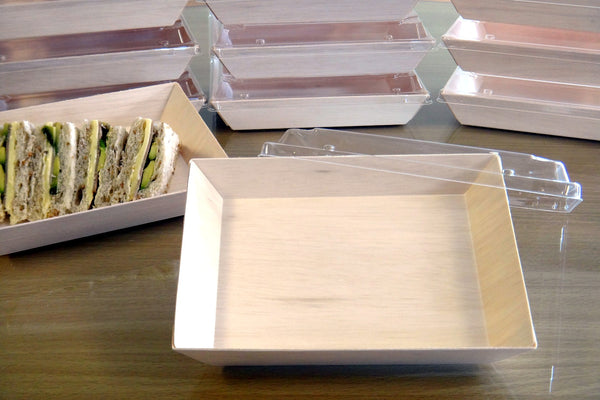 WOODEN VENEER CHEESE BOX WITH MATCHING LID | FS-02BF