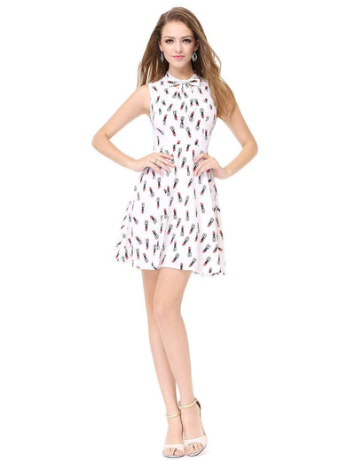 Alisa Pan Retro Printed Fit and Flare Dress