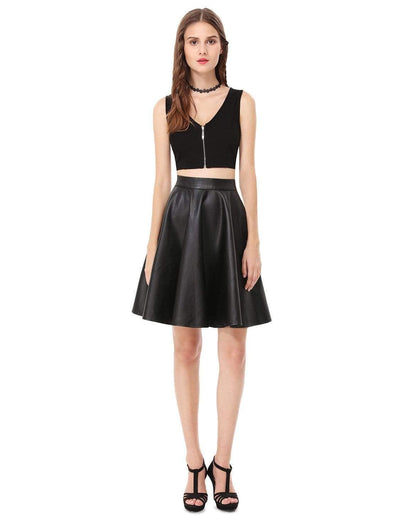 Alisa Pan Crop Top Skirt Little Black Dress