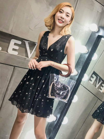Alisa Pan V Neck Starry Party Dress