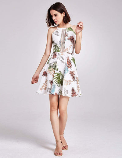 Alisa Pan Tropical Print Fit and Flare Summer Dress