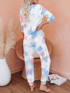 Feminine Tie-Dye Loungewear Track Suit For Sports-Tie-Dye 2