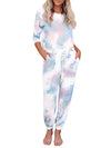 Feminine Tie-Dye Loungewear Track Suit For Sports-Tie-Dye 1