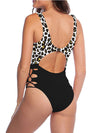 Hot Hollow One-Piece Bathing Suit Swimwear For Women-Brown 2