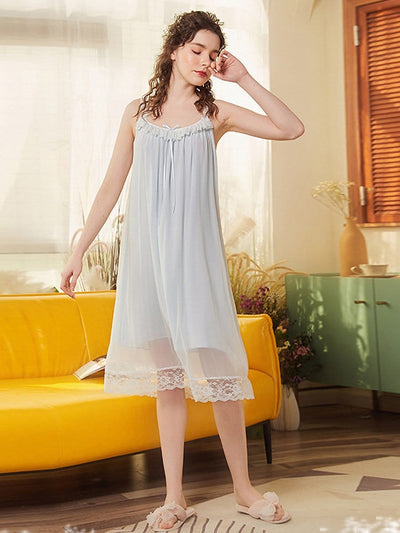 Cute O Neck Sleeveless Cotton Pajamas for Girls