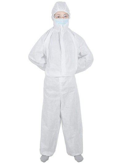 Anti-Saliva Disposable Protective Coveralls with Elastic Wrist