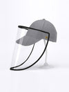 Simple Outdoor Detachable Visor Adjustable Protective Baseball Hat-Grey 1