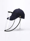 Simple Outdoor Detachable Visor Adjustable Protective Baseball Hat-Navy Blue 1