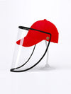 Simple Outdoor Detachable Visor Adjustable Protective Baseball Hat-Red 1