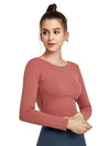 Women'S Active Wear With Long Sleeve And Crisscross Back For Yoga-Ruby 1
