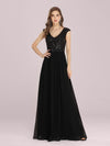 Stunning A-Line Chiffon Evening Dress With Sequin Bodice-Black 4