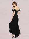 Sexy Long High-Low Party Dress With Spaghetti Straps-Black 2