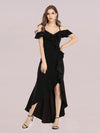 Sexy Long High-Low Party Dress With Spaghetti Straps-Black 4